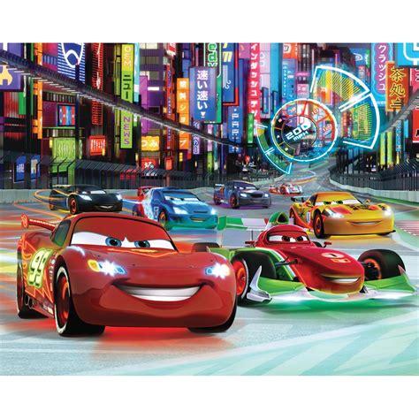 Walltastic Disney Cars Neon Wallpaper Mural 8ft X 10ft