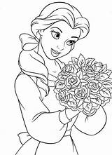 Coloring Cartoon Pages Characters Princess Popular Disney sketch template