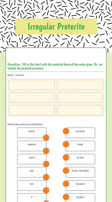 worksheets preterite worksheet cheatslist free