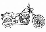 Coloring Motorcycle Printable Chopper Drawing Popular sketch template