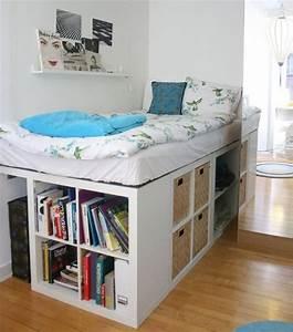 Ideen Mit Ikea Möbeln : die besten 25 bett mit stauraum ideen auf pinterest ~ Lizthompson.info Haus und Dekorationen