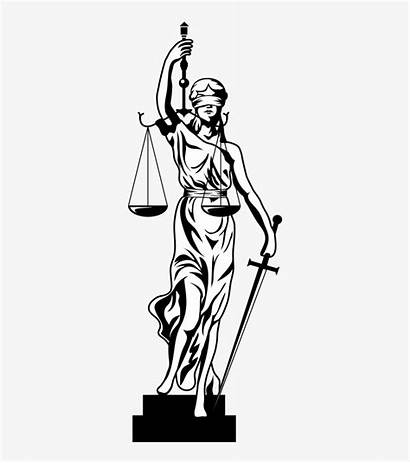 Justice Lady Drawing Transparent Getdrawings Nicepng Pngio
