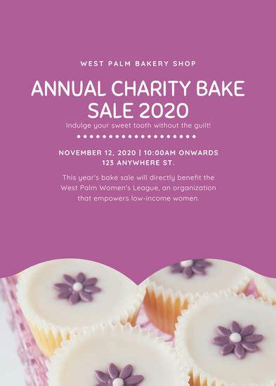 customize  bake sale flyer templates  canva