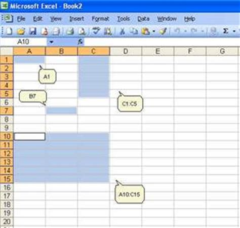 columns  rows  labeled numerically  excel