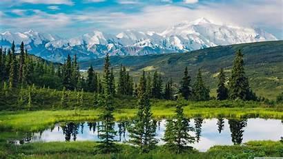 Alaska Mountains Nature Landscape 4k Water Trees