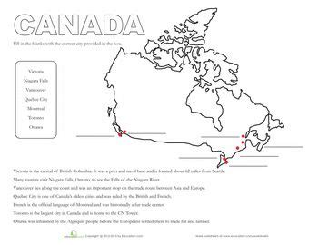 canada worksheets and maps on pinterest