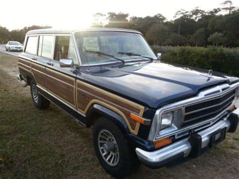 jeep wagoneer blue buy used 1988 jeep grand wagoneer spinnaker blue in