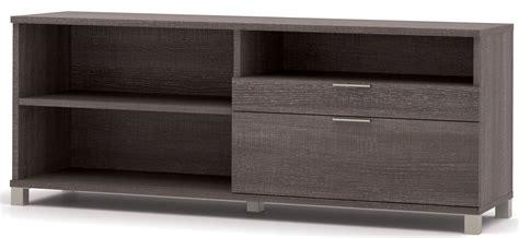 Grey Credenza - pro linea bark grey drawer credenza from bestar 120610