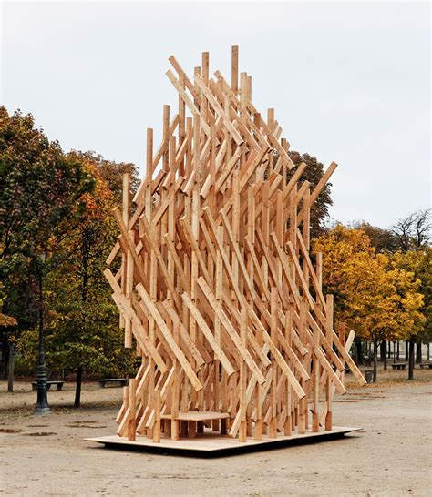 Kengo Kuma Installs Climbable Wooden Pavilion In Paris