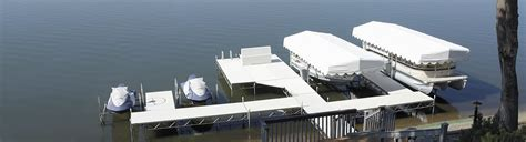 Wax Boat Dock by Hewitt Docks Lifts Gibbons Fiberglass Aluminum Boat