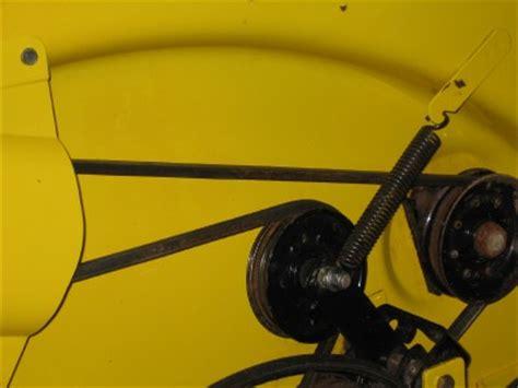 john deere stx38 yellow mower deck underside painted