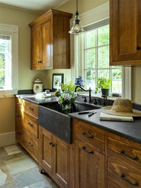 farmhouse kitchen white cabinets black countertops top 50 gallery 2014 adjustable shelving wood