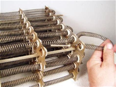restring  furnace heating element mobile home repair