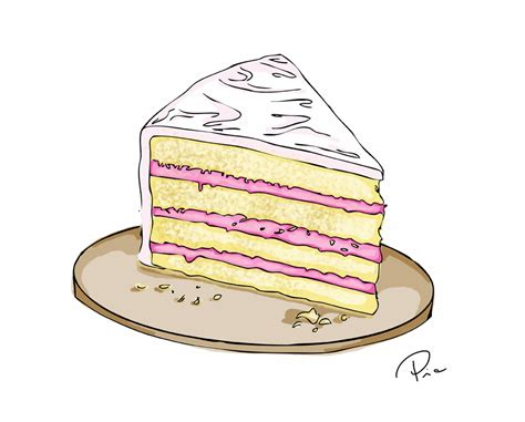 Cake Slice Illustration