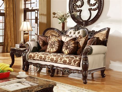 provincial living room set antique style wing back sofa seat provincial