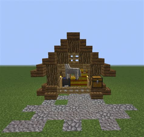 small wooden horse stable grabcraft  number