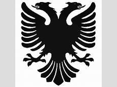 Albanian Eagle Flag Emblem V1 Decal Sticker