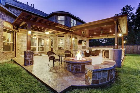 patio homes for in the woodlands tx design covered patio archives custom patios