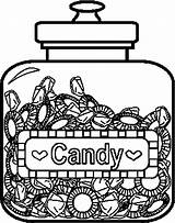 Coloring Candy Pages Printable Jar Template Food Apple Coloringpages101 Templates sketch template