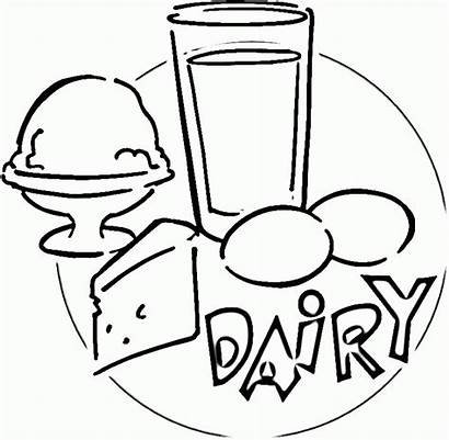 Dairy Coloring Clipart Pages Cliparts Clip Popular