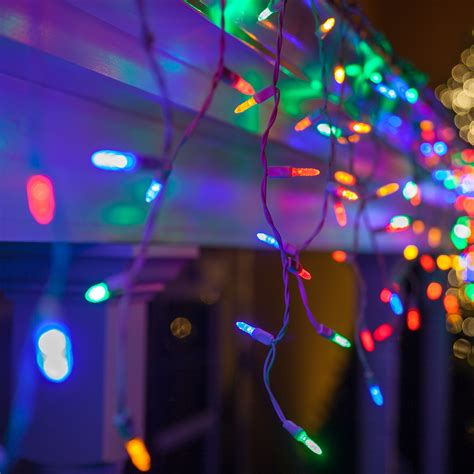 led christmas lights   multicolor led icicle lights