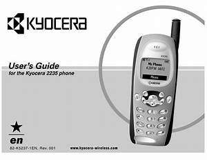 Download Free Pdf For Kyocera 2235 Cell Phone Manual