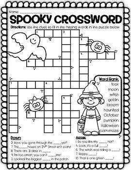 halloween word puzzles designed  st  grade