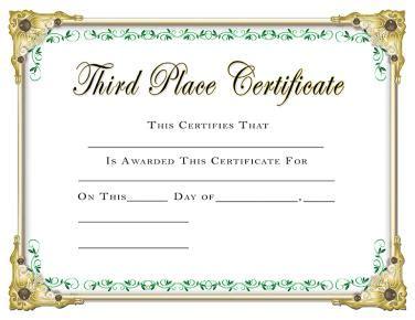 scholastic certificates  place certificate