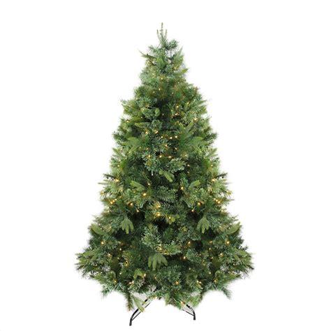 7 5 x 55 quot pre lit cashmere mixed pine artificial
