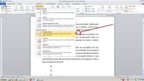 como numerar e não numerar as paginas no tcc monograf numerar paginas no word a partir da introdução tcc