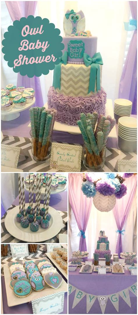 Purple And Teal Baby Shower Decorations by Owl Baby Shower Quot H S Baby Shower Quot In 2019 Owl