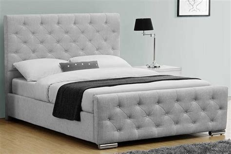 cheap corner sofa beds buckingham grey fabric upholstered buttoned headboard bed king price beds
