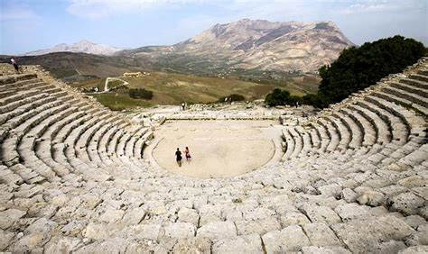 ancient greek theater   monumental amphitheaters