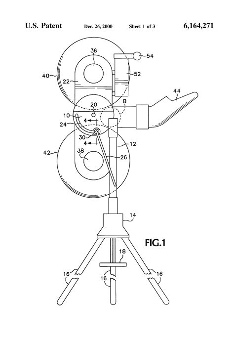 Patent US6164271 - Ball throwing machine and electrical