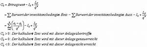 Kapitalwert Berechnen Formel : dynamische verfahren der investitionsrechnung barwert kapitalwertmethode ~ Themetempest.com Abrechnung