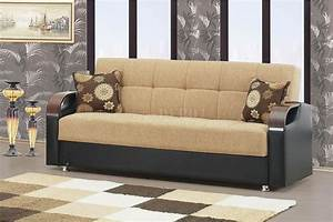 soho sofa bed in beige chenille fabric by rain w optional With soho sofa bed