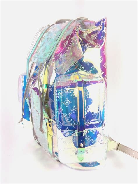 louis vuitton christopher monogram gm prism clear canvas backpack tradesy