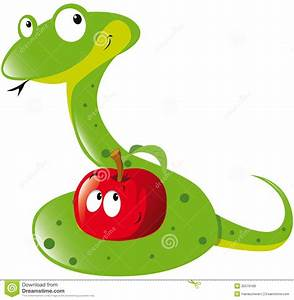 Snake And Apple Royalty Free Stock Images - Image: 26579189
