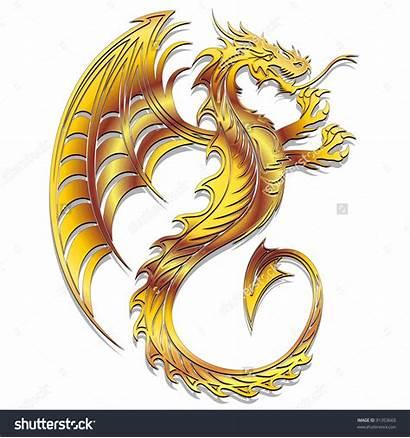 Dragon Golden Clipart Symbol Clipground Illustration Type