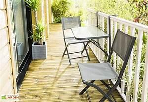 Salon De Jardin Pliant : salon de jardin balcon anthracite pliant table 2 ~ Dailycaller-alerts.com Idées de Décoration