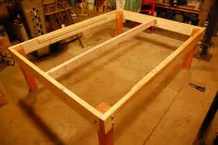 Building A Simple Platform Bed Frame by Strong And Tough Platform Bed Diy 7 Steps With Pictures