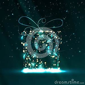 Circuit Board Background Christmas Gift Stock Vector