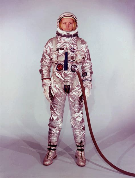 Neil Armstrong in his Gemini 8 Spacesuit