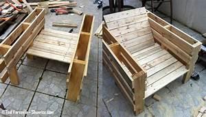 Salon De Jardin En Palette Tuto : bricolage creer du mobilier de jardin avec des palettes ~ Dode.kayakingforconservation.com Idées de Décoration