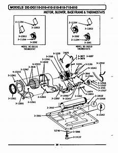 Motor  Blower  Base Frame  U0026 Thermostats Diagram  U0026 Parts
