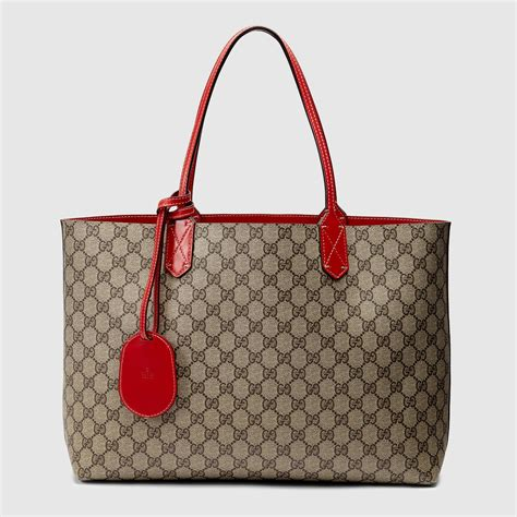 reversible gg leather tote gucci womens totes