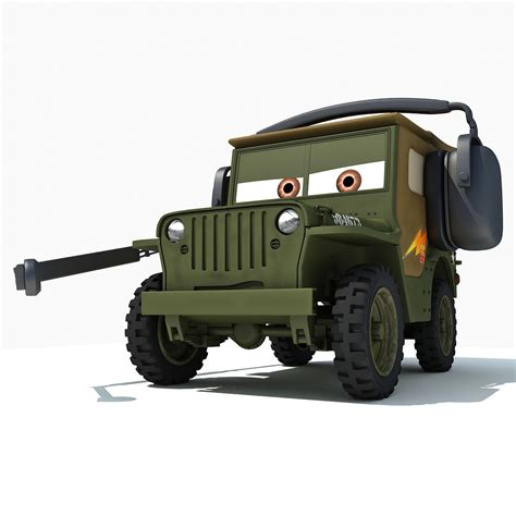 Cars 2 Sarge by Cars2 3d Models Sarge 3d
