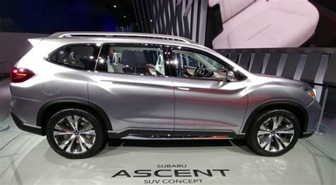 subaru ascent  row suv release date price specs