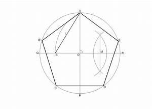 Pent U00e1gono Regular Inscrito En Una Circunferencia