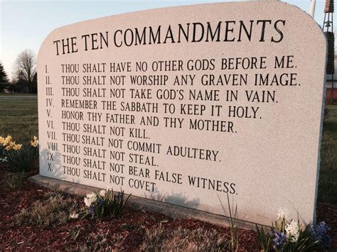 ten commandments list    bible   talk